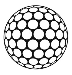 black and white golf ball icon simple style vector image