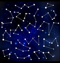 cosmic background with constellations vector image