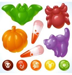 halloween food creepy treats and tasty eats vector image