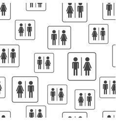 men and woman seamless pattern background vector image