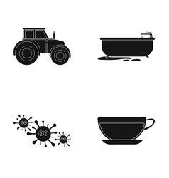 rest work medicine and other web icon in black vector image vector image