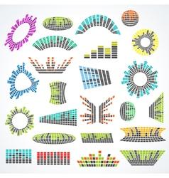 Set of cororful music equalizer design vector image vector image