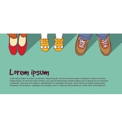 Shoes family parents with child vector image vector image
