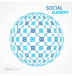 social element sphere vector image vector image