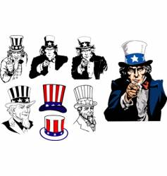 uncle sam vector image vector image