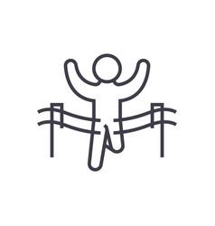 winner runmarafon line icon sign vector image