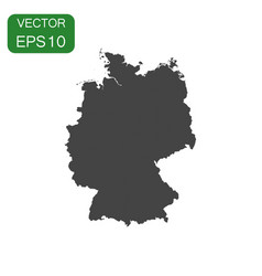 germany map icon business cartography concept vector image vector image