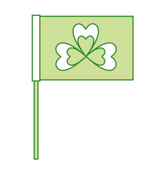 green flag with clover symbol vector image