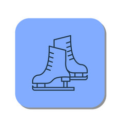 linear icon of pair of skates for figure skating vector image