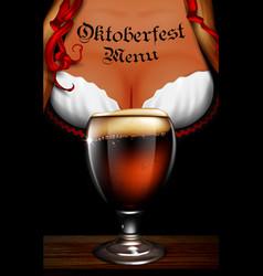 oktoberfest waitress womens festive decollete vector image