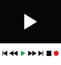 play icon color vector image vector image
