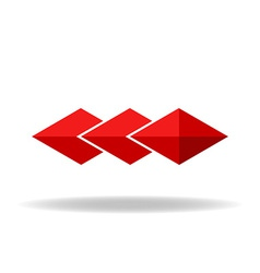 Red rhombus technology or business logo vector image