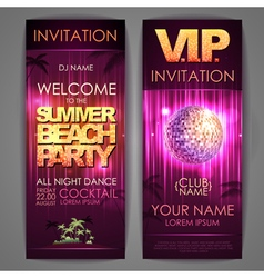 Summer beach party poster vector image