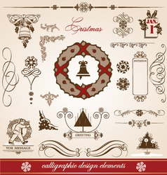 Christmas and new year greetings vector