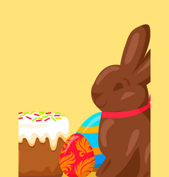 Easter festive concept with traditional meals vector