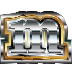 Fancy font Letter m vector image vector image