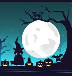 happy halloween banner trick or treat concept vector image