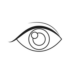 Human eye vision optical look outline vector