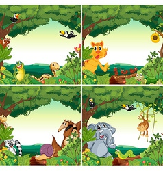 Animals and forests vector image vector image