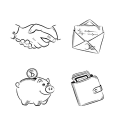 Business and finance set vector image vector image