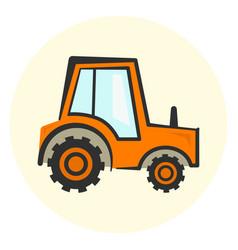 cute cartoon colorful tractor icon vector image vector image