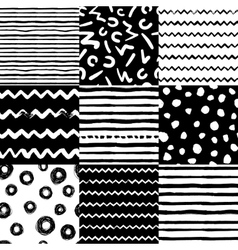 Decorative seamless pattern with handdrawn shapes vector
