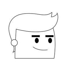 Man cartoon icon image vector