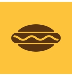The hot dog icon Sandwich and baking fast food vector image vector image