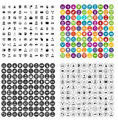 100 webinar icons set variant vector