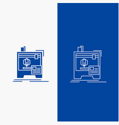 3d dimensional machine printer printing line and vector