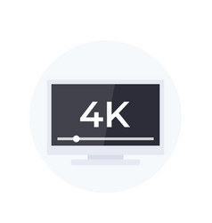 4k tv vector image