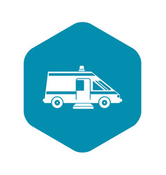 ambulance icon simple style vector image