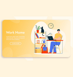 banner work at home vector image