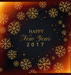 beautiful snowflakes background with happy new vector image