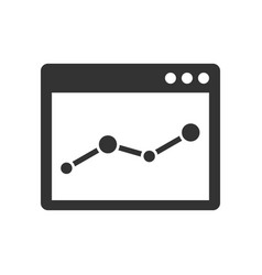 Browser window with chart icon vector