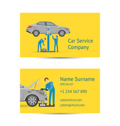 Business card template for auto service vector