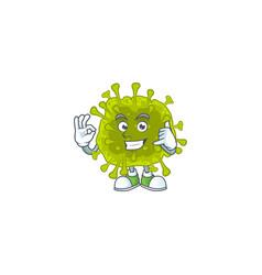 Call me funny gesture coronavirus spread mascot vector