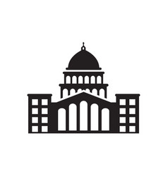 capitol building icon design template isolated vector image