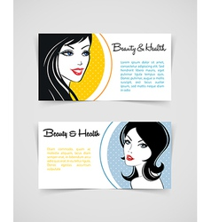 Cards with women vector image