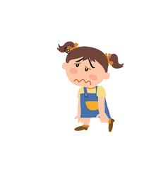 cartoon character of a dizzy girl vector image