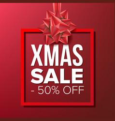 christmas sale banner big super sale vector image