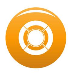 circle graph icon orange vector image