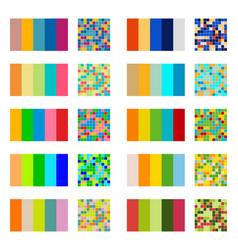 Color palette set background harmony color combos vector