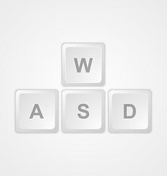 Computer keyboard WASD gaming buttons vector image
