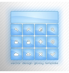 design flat blue vector image