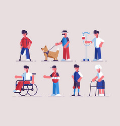 disabled characters set vector image