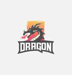 dragon e sport logo vector image