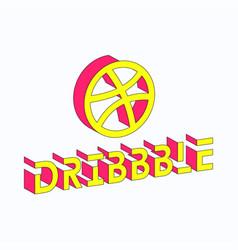 Dribbble isometric vector