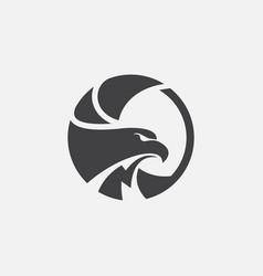 Eagle icon design hawk logo vector