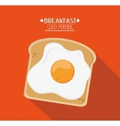 Egg and breakfast design vector